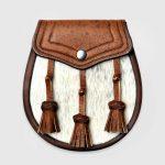 Semi-Dress Sporran – Brown Pigskin with Classic Detailing