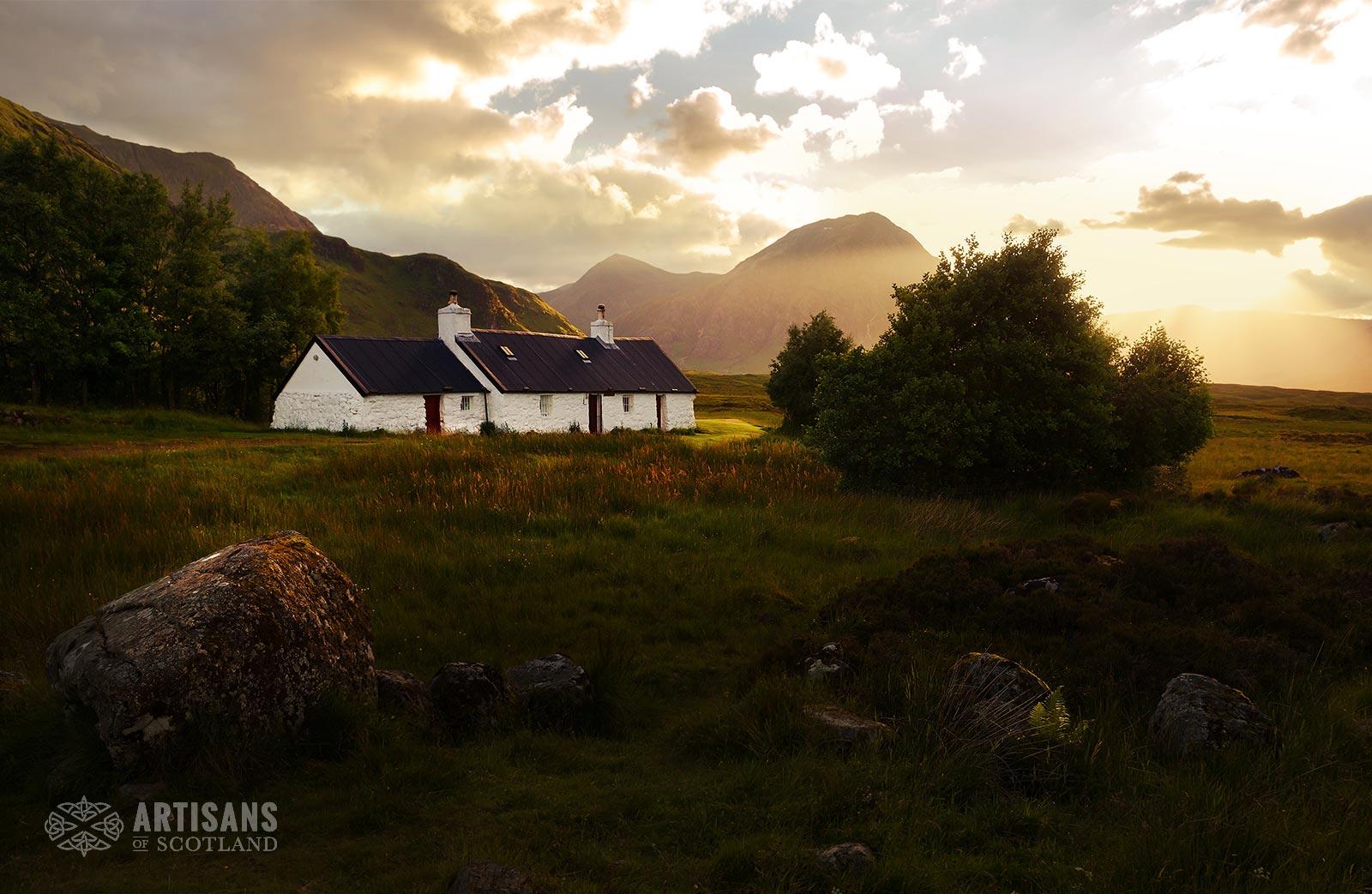 Blackrock Cottage Glencoe Sunset - The most beautiful places in Scotland