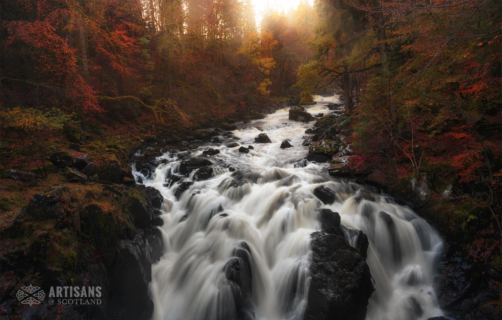 River Tay through Dunkeld Forrest at Sunset - The most beautiful places in Scotland