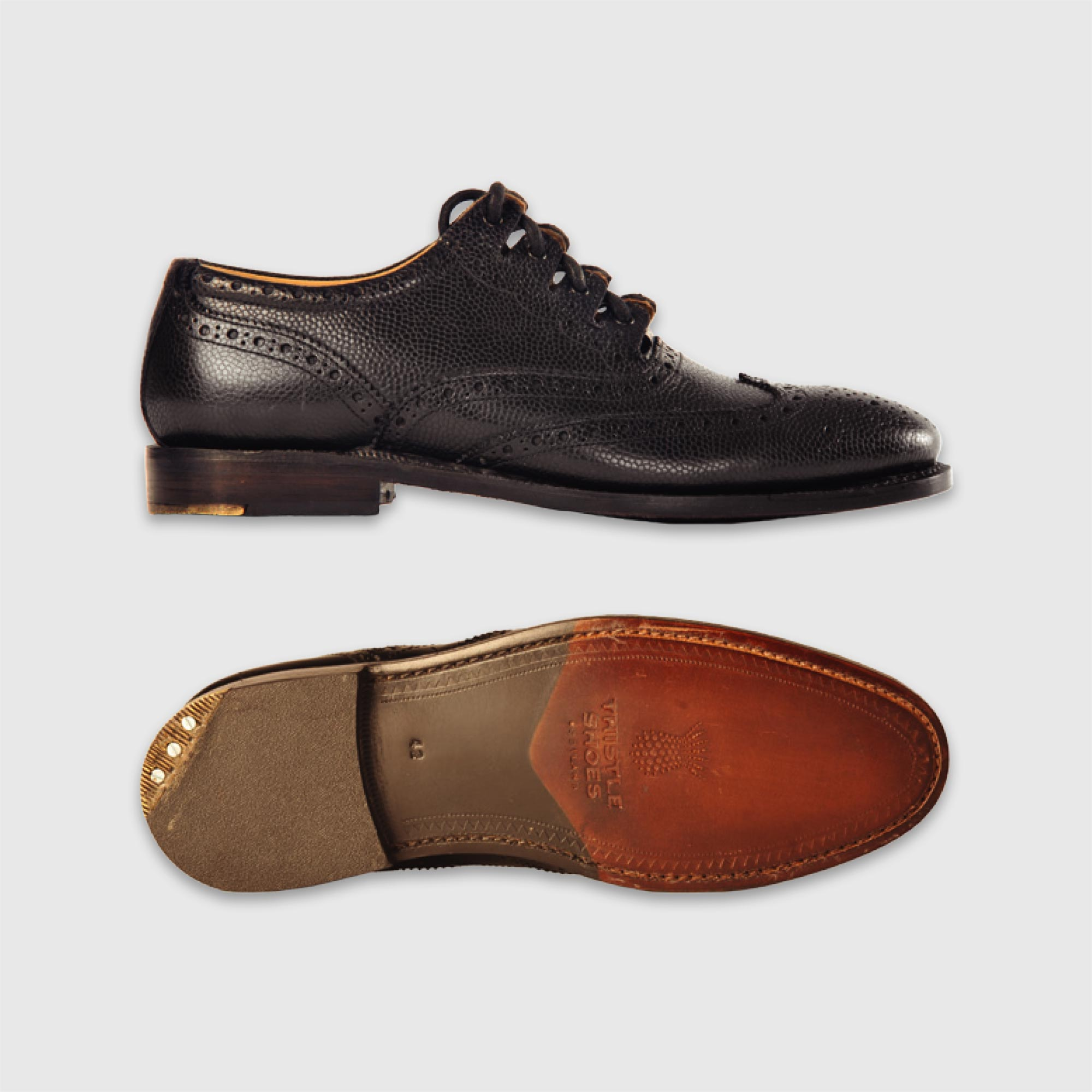 Executive Leather Traditional Custom Grade Good Year Welted Ghillie Brogue Brown