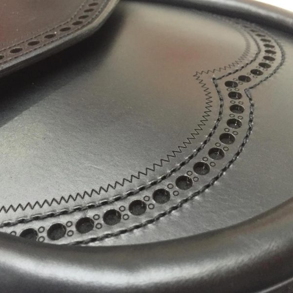 Black Brogue Sporran Closeup