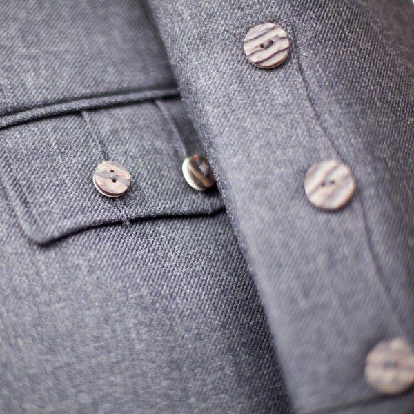 Tweed Kilt Jacket - Buttons