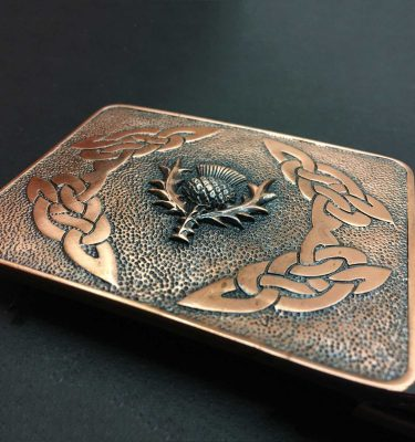 Copper Thistle Belt Buckle