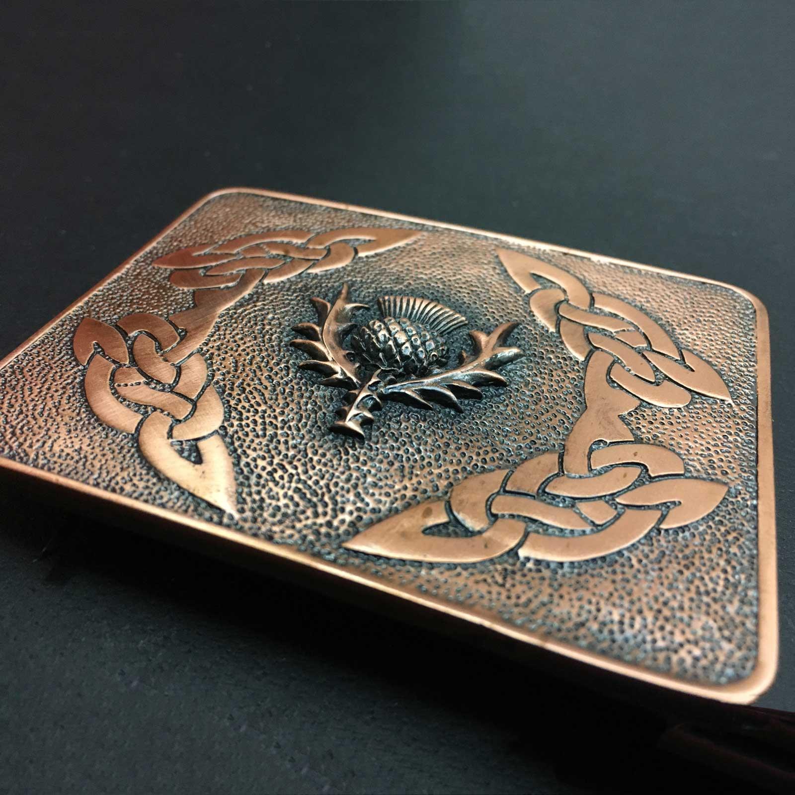 Copper Thistle Belt Buckle