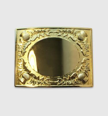 Brass Thistle Belt Buckle