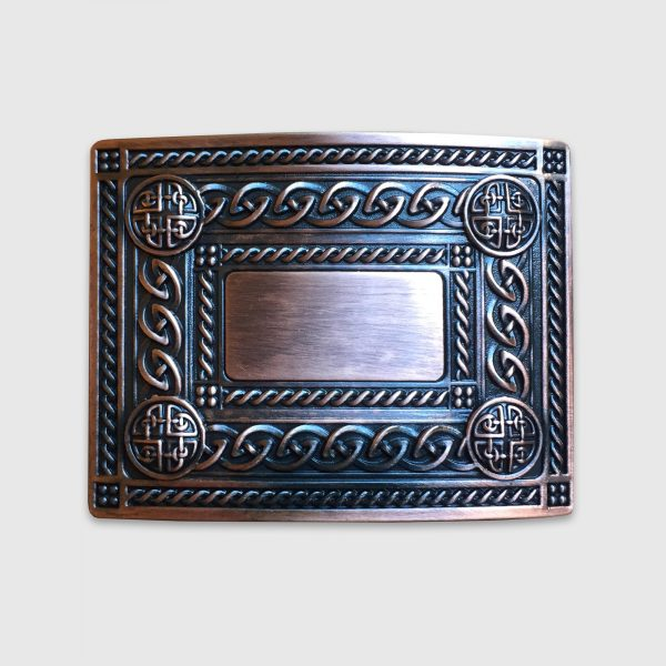 Copper Celtic Belt Buckle