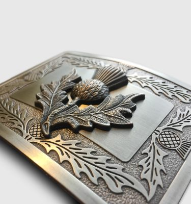 Classic Thistle Belt Buckle Close
