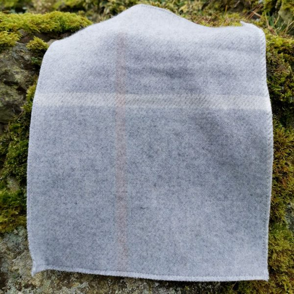 Tattersall Pearl Grey Throw Product Shot