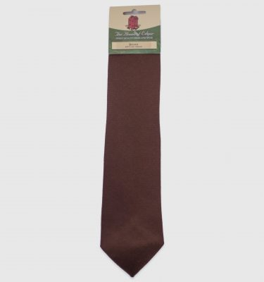 brown twill tie product image