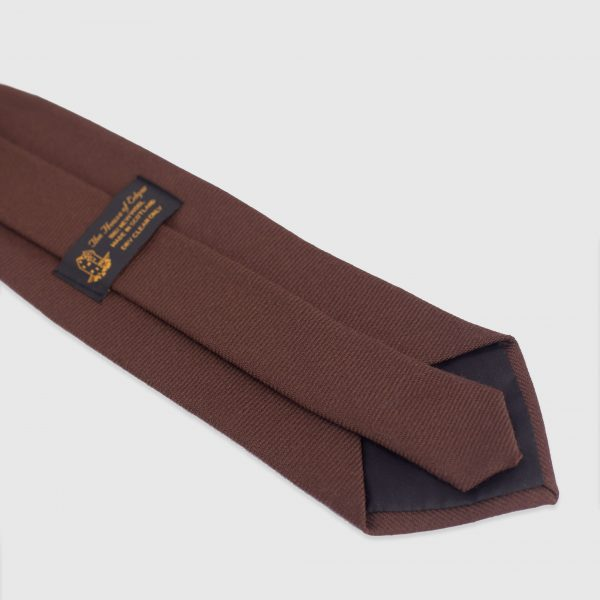 brown twill tie rear picture